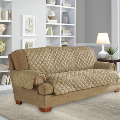 Perfect Fit® Waterproof Sofa Protector in Camel