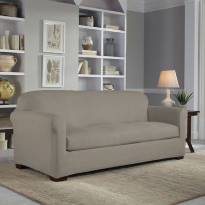 Perfect Fit® 2-Piece Reversible Sofa Slipcover in Graphite