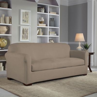 Perfect Fit® 2-Piece Reversible Sofa Slipcover in Chocolate