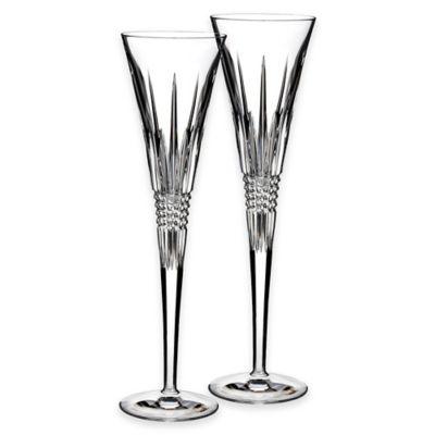 Waterford® Lismore Diamond Toasting Flutes (Set of 2)