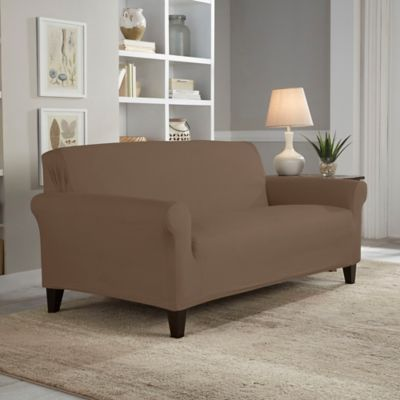 Perfect Fit® Reversible Loveseat Slipcover in Chocolate