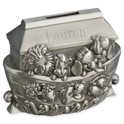 Noah's Ark Bank in Pewter