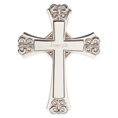 Cross with Wall Hanging Option in Silver