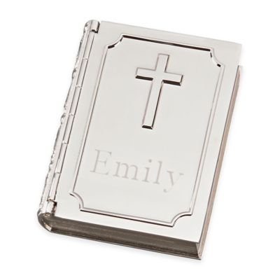 Hinged Book Jewelry Box with Cross Cover