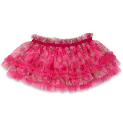 Baby Starters® Size 3M Flower Print Tutu Print Skirt in Pink/Multicolor