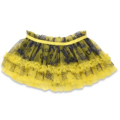 Baby Starters® Newborn Flower Print Tutu Skirt in Yellow/Black