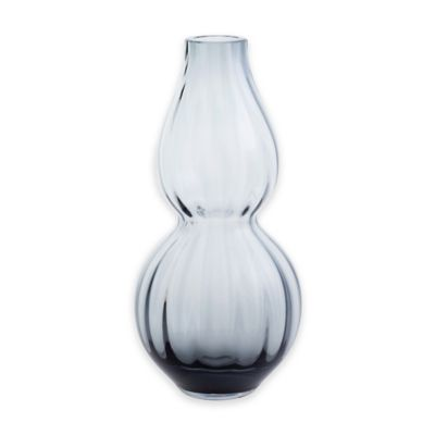 Dartington Crystal 10-Inch Gourd Vase in Midnight Blue