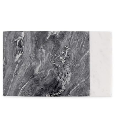Artisanal Kitchen Supply™ White/Grey Marble Serving Board