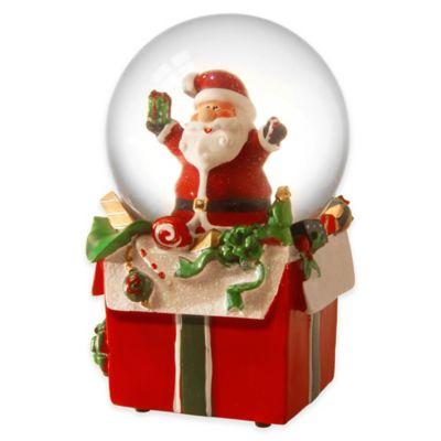 National Tree 8-Inch Illuminated Santa Snow Globe