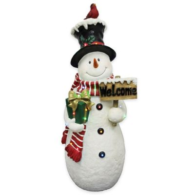 National Tree Welcoming Snowman 28-Inch Pre-Lit Decoration