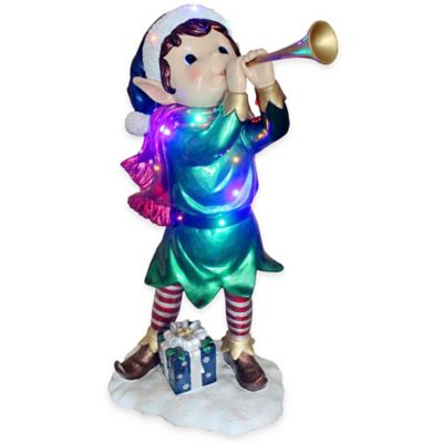 National Tree Trumpeting Elf 37-Inch Pre-Lit Decoration