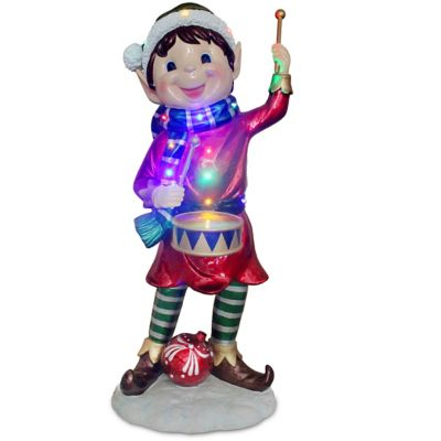 National Tree Drumming Elf 36.75-Inch Pre-Lit Decoration
