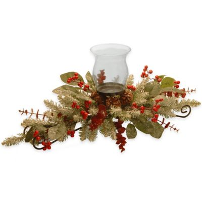 National Tree 30-Inch Decorative Collection Eucalyptus Centerpiece