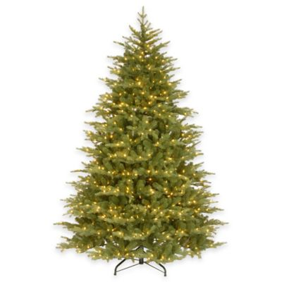 "National Tree 7.5-Foot Pre-Lit ""Feel-Real"" Nordic Spruce Hinged Tree with Clear Lights"