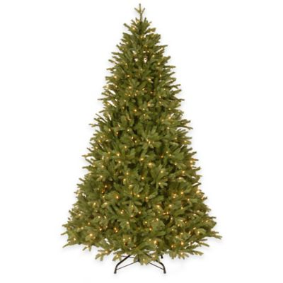 "National Tree 7.5-Foot ""Feel-Real"" Scranton Fir Hinged Tree with Clear Lights"