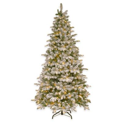 National Tree Company 7.5-Foot Snowy Everest Fir Pre-Lit Christmas Tree with Clear Lights
