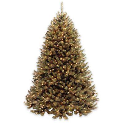 National Tree 7-Foot Pre-Lit Rocky Ridge Pine Hinged Christmas Tree