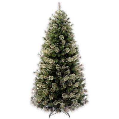 National Tree 6-Foot Wispy Willow Slim Hinged Christmas Tree