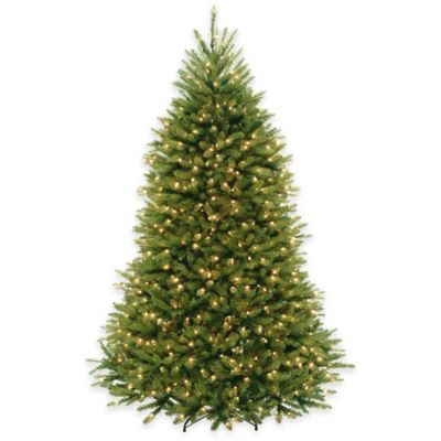 National Tree Company 7.5-Foot Dunhill Fir Pre-Lit Christmas Tree with Clear Lights
