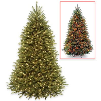 National Tree 7.5-Foot Pre-Lit PowerConnect Dunhill Fir Christmas Tree with Dual-Color LED Lights
