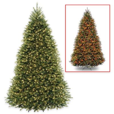 National Tree Company 9-Foot Dunhill Fir Pre-Lit Christmas Tree with Dual Color Lights