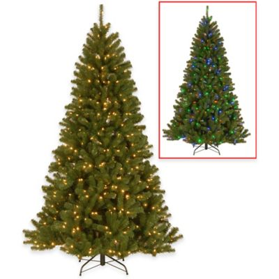 National Tree 7.5-Foot North Valley Spruce Pre-Lit Christmas Tree with Dual-Color LED Lights