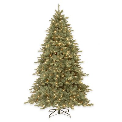 National Tree 7.5-Foot Pre-Lit Feel-Real Auburn Blue Spruce Christmas Tree with 750 Clear Lights