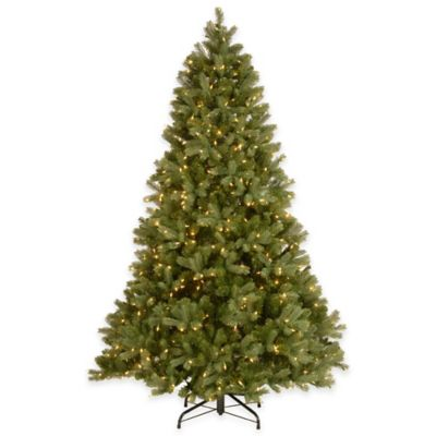 "National Tree Company 7-Foot ""Feel Real"" Bayberry Spruce Pre-Lit Hinged Christmas Tree"