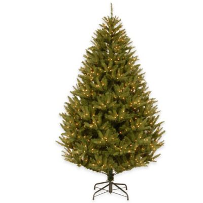 National Tree 7.5-Foot Pre-Lit Feel-Real California Cedar Christmas Tree with 600 Clear Lights