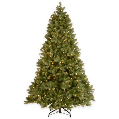 National Tree Company 7.5-Foot Downswept Douglas Fir Pre-Lit Pencil Christmas Tree with Clear Lights