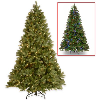 National Tree 7.5-Foot Downswept Douglas Fir Pre-Lit Hinged Christmas Tree with Dual Color Lights