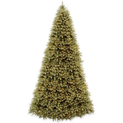 National Tree 12-Foot Downswept Douglas Fir Pre-Lit Hinged Christmas Tree with Clear Lights