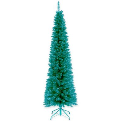 National Tree Tinsel 6-Foot Tree in Turquoise