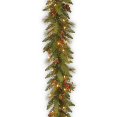 Outdoor Decorated Lighted Garland