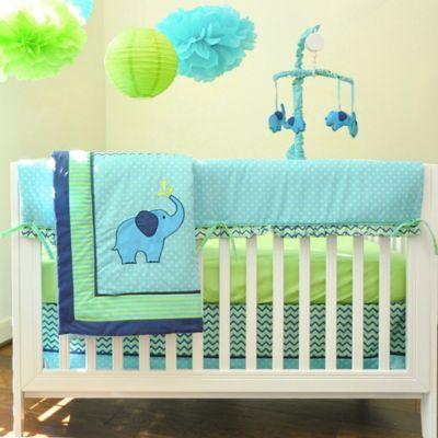 Pam Grace Creations Zig Zag Elephant Crib Bedding Collection > Pam Grace Creations Zig Zag Elephant 10-Piece Crib Bedding Set