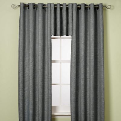 Steel Grey Window Valance