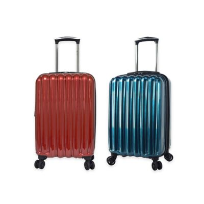 Traveler's Club Voyager Hard-Side 20-Inch Expandable Carry On Spinner in Teal