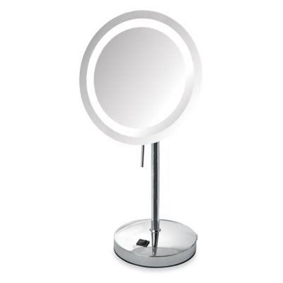 Jerdon 8X LED Lighted Vanity Mirror in Nickel
