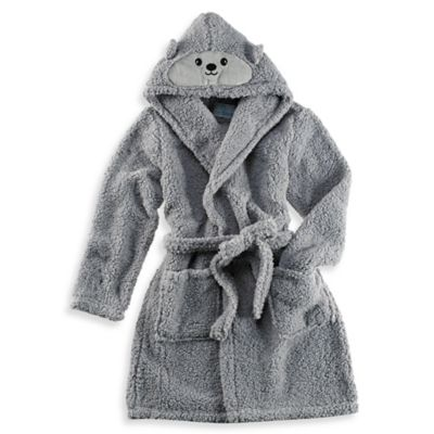 Mouse Hooded Critter Robe in Grey