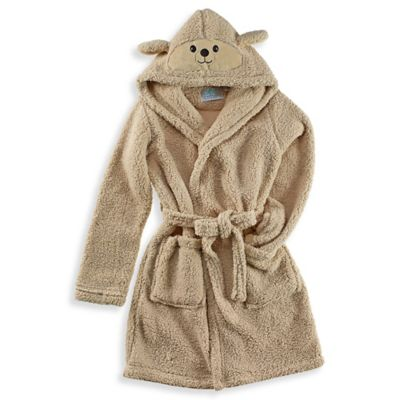 Dog Hooded Critter Robe in Brown