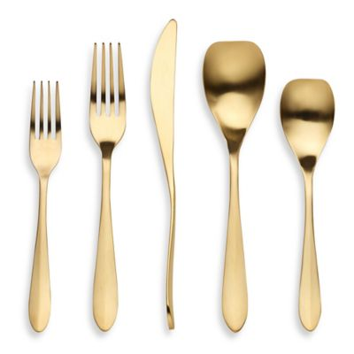 Herdmar® Lonios 5-Piece Flatware Place Setting in Matte Copper