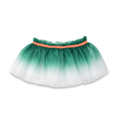 Baby Starters® Newborn Ombre Tutu Skirt in Aqua Green/Orange