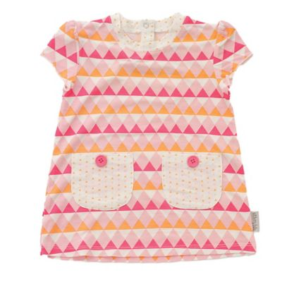 Silkberry Baby™ Size 3-6M 2-Piece Rayon Made from Bamboo Triangle Dress and Bloomer Set