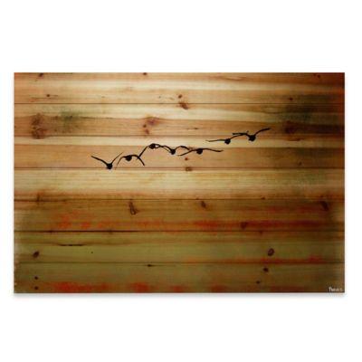 Sun Flight 45-Inch x 30-Inch Wood Wall Art