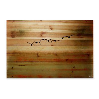Sun Flight 60-Inch x 40-Inch Wood Wall Art