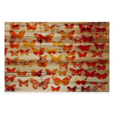 Parvez Taj Cheerful 60-Inch x 40-Inch Pine Wood Wall Art