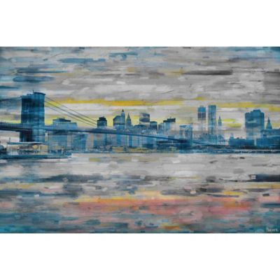 Parvez Taj Bridge Skyline 18-Inch x 12-Inch Canvas Wall Art
