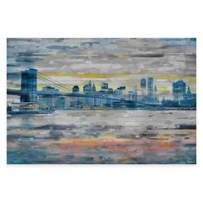 Parvez Taj Bridge Skyline 24-Inch x 16-Inch Canvas Wall Art