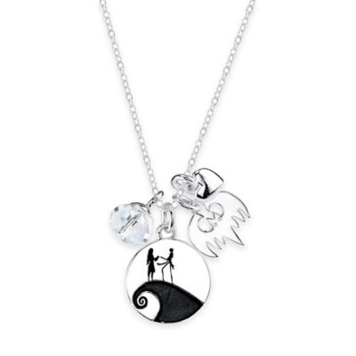 "Disney® Sterling Silver ""The Nightmare Before Christmas"" 4-Piece Charm Pendant Necklace"