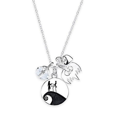 Disney sterling silver the nightmare before christmas 4 for Sterling silver christmas jewelry